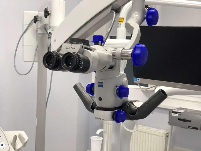 Лечение зубов под микроскопом цена